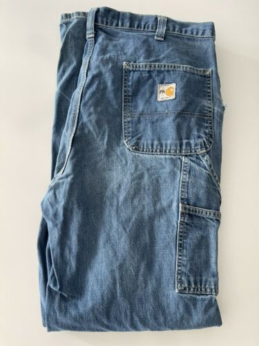 Preowned Carhartt FR Mens Carpenter Denim Jeans • 36x30