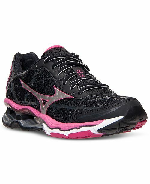 Wave Creation 16 Running shoes -Black, Silver, Pink - Women's size 8