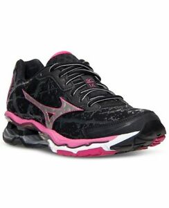 best service 6d569 c2e8a Image is loading Mizuno-Wave-Creation-16-Running-Shoes-Black-Silver-