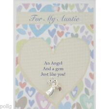 AUNTIE Guardian Angel Lapel Pin & Inspirational Message Card Gift