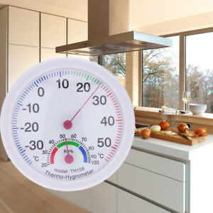 Indoor-Outdoor-Thermometer-Temperature-Meter-Hygrometer-Humidity-Clock-shaped