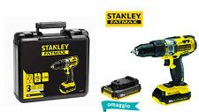 STANLEY FMC625D2-QW FATMAX TRAPANO AVVITATORE PERC 18V 2Ah 2 BATTERIE VALIGETTA