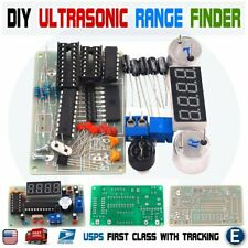 Diy Kit Ultrasonic Distance Measuring Sensor Module Led Display Range Finder