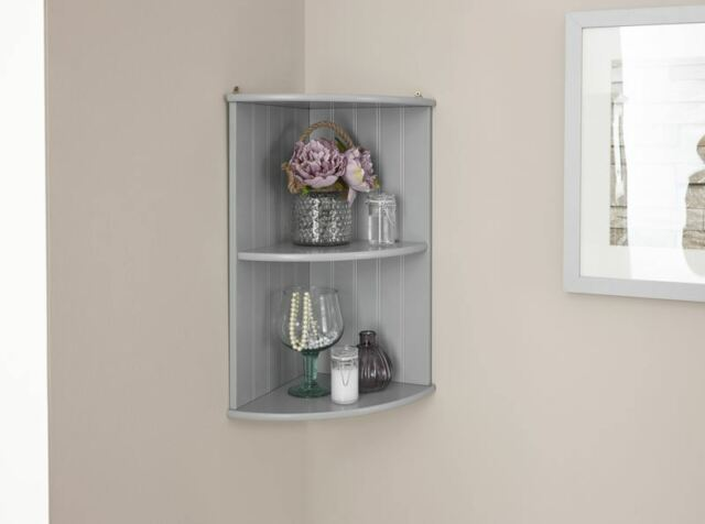 Colonial Corner Shelf Bathroom Storage Wooden Tong & Groove 2 ...