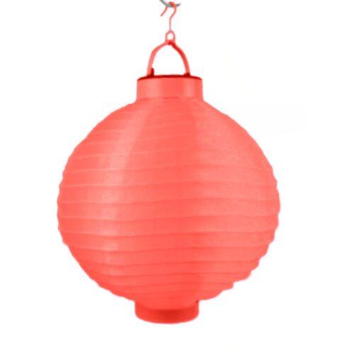 Lampion Laterne Papierlaterne Ø 20 cm Rund  Batteriebetrieb LED Gartendeko Licht