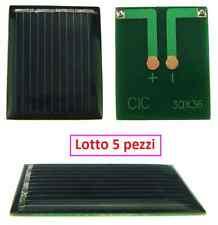 Lotto 5 pezzi Mini Cella Pannello solare fotovoltaico 2v  50mA