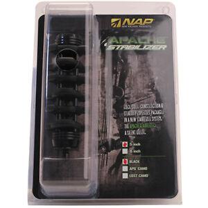 New-Archery-Apache-Bow-Stabilizer-5-034-Carbon-Fiber-and-Rubber-Black