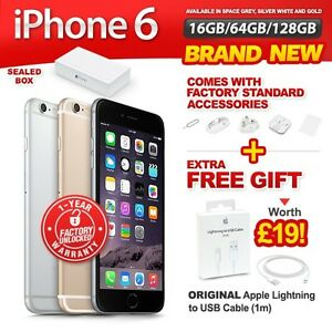 New-amp-Sealed-Factory-Unlocked-APPLE-iPhone-6-16-64-128GB-Space-Grey-Gold-Silver