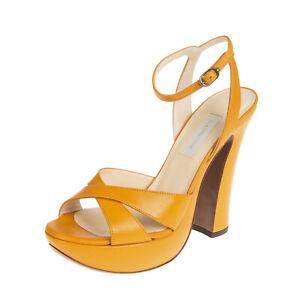 RRP €265 L'AUTRE CHOSE Leather Ankle Strap Sandals Size 39 UK 6 US 9 Criss Cross