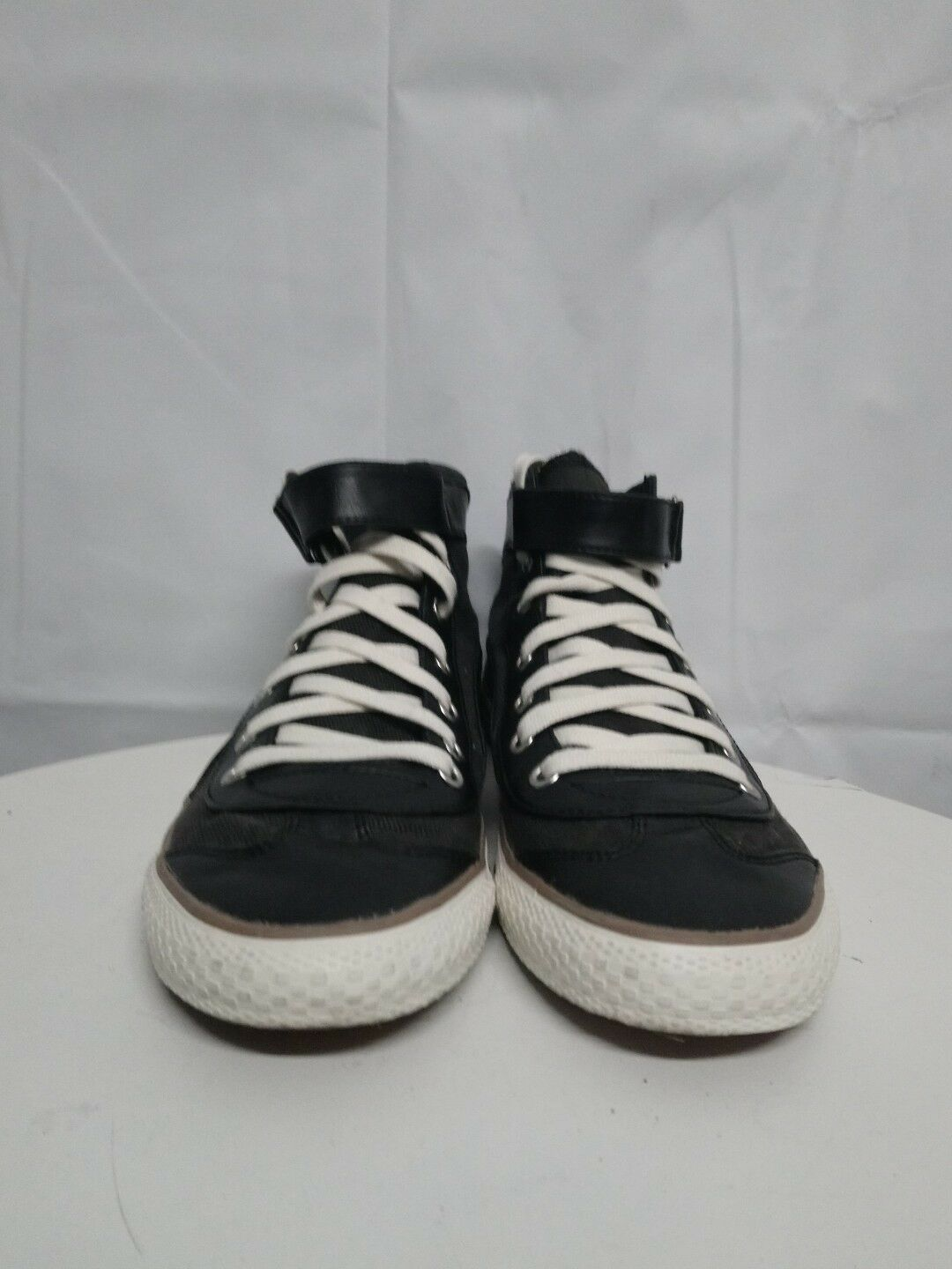 PUMA WOMENS BLACK AND WHITE PREOWNED HIGH TOP SKATERS TRAINERS PREOWNED WHITE SIZE RL1 dca0cc