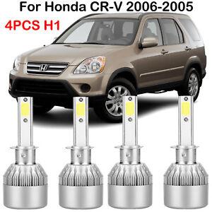 4x For Honda Cr V 2006 2005 H1 Led Headlight Conversion Kits Bulbs High Low Beam Ebay