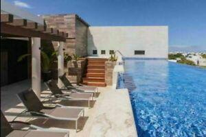 Estudio con jacuzzi y alberca, amueblado y equipado, en Playa del Carmen
