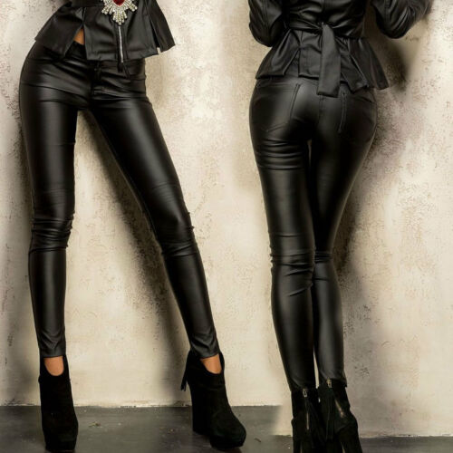 similicuir Ocassion pantalon pantalon taille 40 pantalon pantalon basse pantalon brillant en 32 rwqp0dr