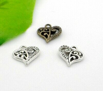 50pcs DIY Silver Plated Two-sided mermaid For Jewelry Making charm Pendants