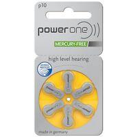 Powerone Power One Size 10 Mercury Free Hearing Aid Batteries (30 Batteries)