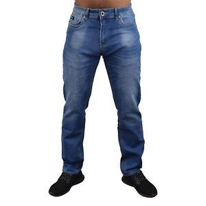 Mens-Jeans-Firetrap-Stretch-Durable-Straight-Leg-Regular-Fit-Relaxed-Denim-Jeans