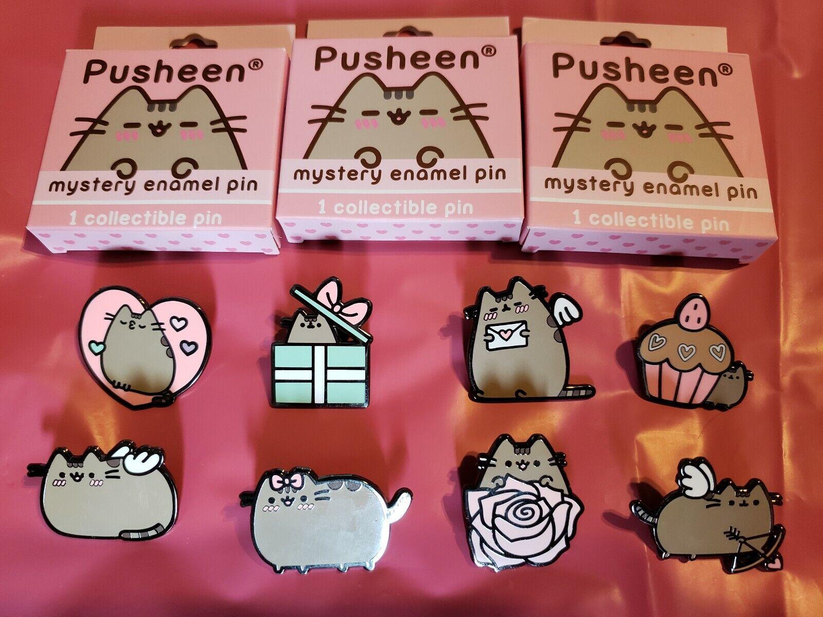 Pusheen Full set set of 8 Mystery Enamel Pins Valentines day.