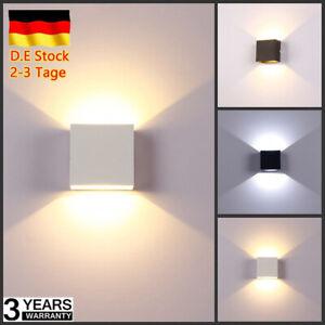 Rohr DHL LED Wandleuchte Cube Wohnen Lampe Licht Dimmbar Aluminum Mit Schraube