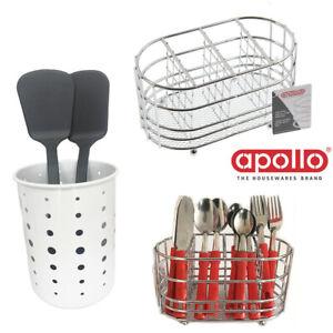 Cutlery-Holder-Caddy-Sink-Organizer-Drainer-Steel-Storage-Spoon-Draining-Section
