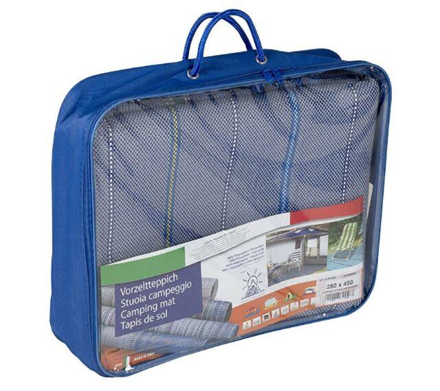 ARISOL 4269706 - Tapis de tente sol Classic 2,4 x 4,5 m Bleu rayé  *NEUF*