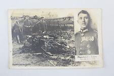 Fotopostkarte Wrack Absturzstelle des Pour le Merite Trägers Immelmann Lens 1916