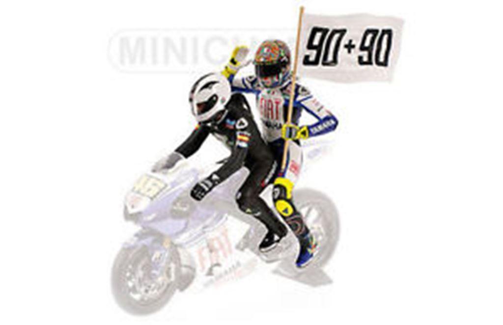 Minichamps 080190 FIGURINE V ROSSI & UNA VITTORIA NIETO 90+90 LE MANS 2008 1:12th