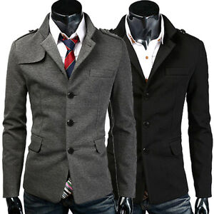 Details about Casual Fashion Men\u0027s Jacket Coat Winter Clothes Business Warm  Overcoat Outerwear