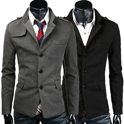 Mens Slim Stylish Casual Suit Coat Jacket Business Blazers Outerwear Windbreaker