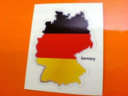 GERMANY Flag /& Map Motorcycle Helmet Van Car Bumper Sticker Decal 1 off 80mm
