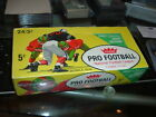 1961 Fleer Football Five Cent Trading Cards Display Box Advertising Magic Msg