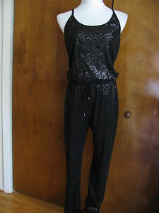 Medium Rachel List Women's Size Lined Roy Guest Jumpsuit Evening Nwt Black RrR7zqxtw