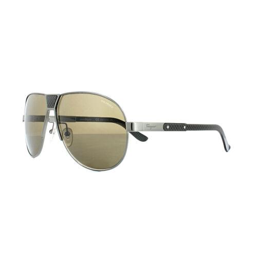 Shiny Brown Sunglasses Sf136sp Ferragamo Gunmetal Polarized Salvatore 035 ZxIf8wRq