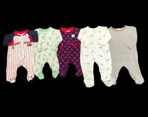 Baby Boy Newborn 0 3 Months Carter S Fall Cotton Sleeper Pajama Clothes Lot Ebay