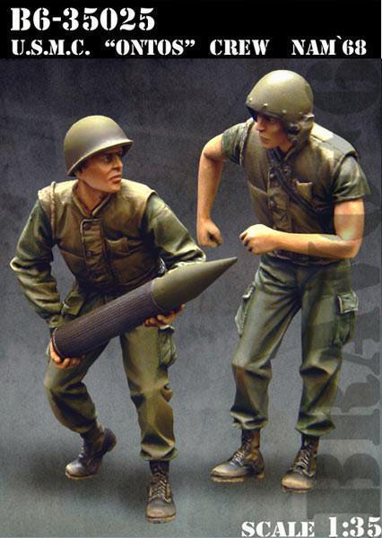Bravo6 1 35 USMC Ontos Crew Nam'68 unpainted resin figures - B635025