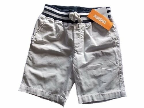 NWT Boy/'s Gymboree Outdoor Explorer white elastic waist shorts ~ 4 5 6 7 8