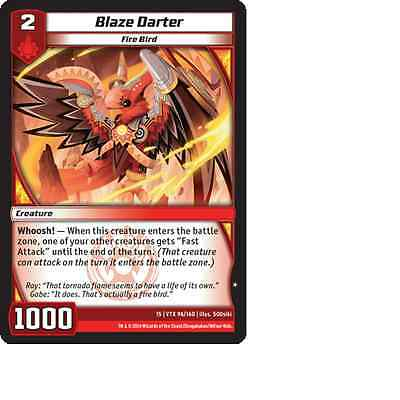 Kaijudo X3 BLAZE DARTER Common #96//160 15VTX Vortex DUEL MASTERS 2014 Playset