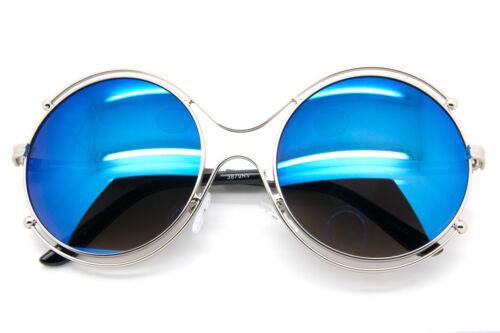 Big Round Oversized Double Wire Rim Sunglasses Metal Frame Women Fashion Shades