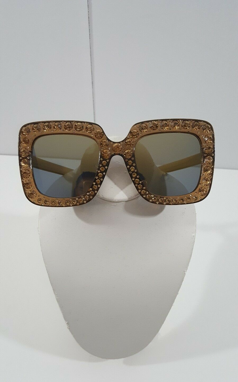 Italian Brand Luxury Big Square Sunglasses Bling Bling
