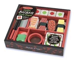 Melissa & Doug Bois Sushi Tranchage Jeu Nourriture 24 Pièce Bois Set de Jeux