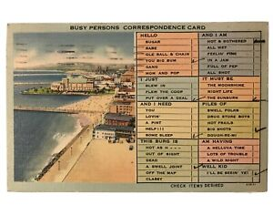 Busy-Persons-Correspondence-Card-Postcard-Long-Beach-CA-July-21-1941