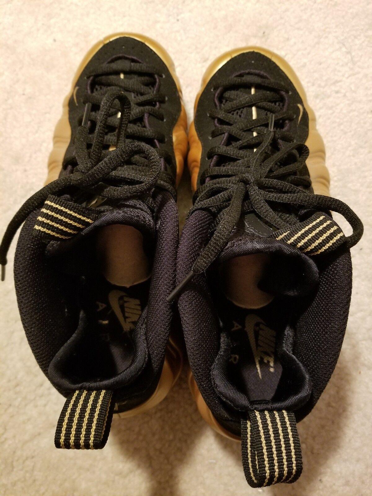 Men's Nike Air Foamposite One Metallic gold 314996 700BB Sz 8.5 Near Mint Con.