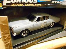 CHEVROLET Chevy Chevelle SS 1970 Fast & Furious grau gr V8 Muscle Car ERTL 1:18