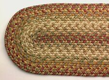 "Homespice Rustic HARVEST Braided Jute 8"" x 28"" Oval Table Runner, Stair Tread"