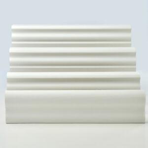 2,5m Fussleisten 62mm Weiß Sockelleisten PVC Bodenleisten Laminat