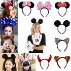 Minnie Mouse Ears Bow Headband Hen Nights Womens Girls Mickey Party Fancy Dress