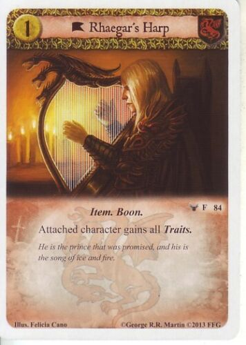 Rhaegar/'s Harp Agot Galaxie compacte lumineuse 1.0 Game of Thrones Battle of Ruby Ford 84