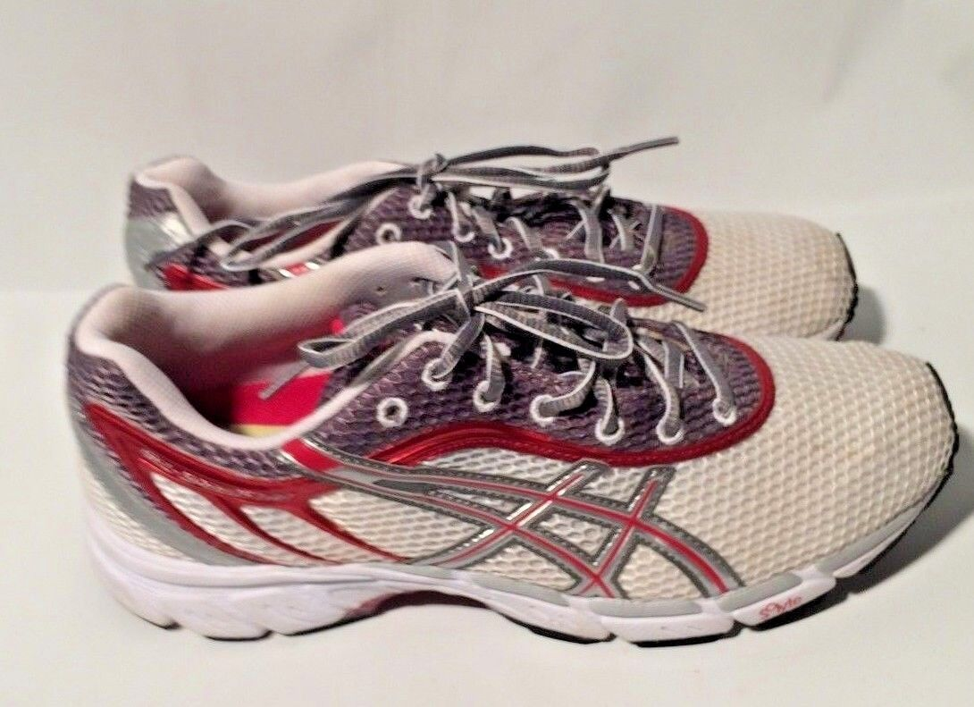 Asics Womens Speedstar 4 Athletic shoes  White pink T071N Size 9