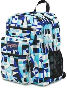 JANSPORT - Big Student - Mammoth Blue Shifter Geometric Design XL ...