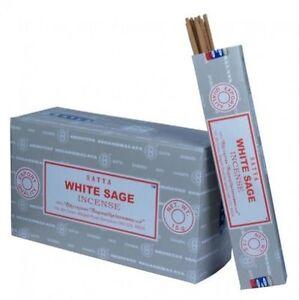 Lot of 6 Box Original Nag Champa WHITE SAGE Incense Stick: 6 x 15gr = 90gr