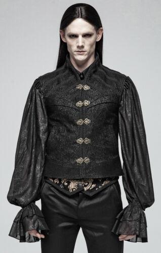 Gilet veste jacquard gothique victorien baroque steampunk cuivre PunkRave Homme
